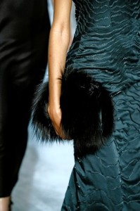 fur handbag