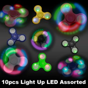 assorted LED fidget spinners
